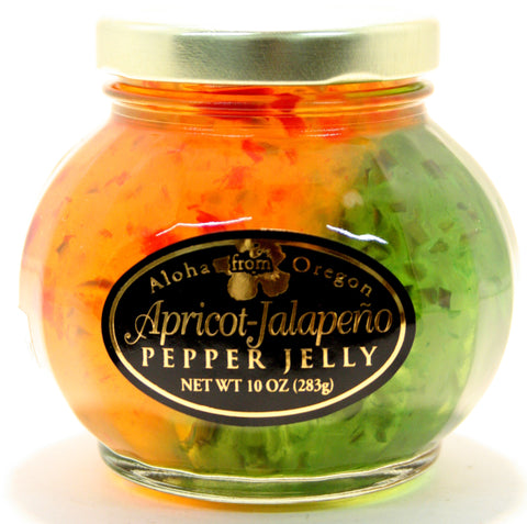 Aloha Apricot-Jalapeno Pepper Jelly. Net Wt. 10 oz.