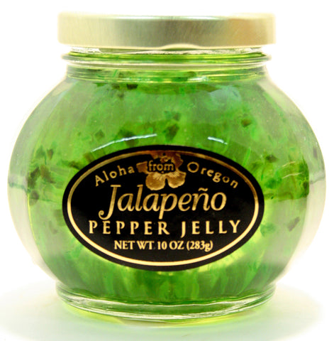 Aloha Jalapeno Pepper Jelly. Net Wt. 10 oz.