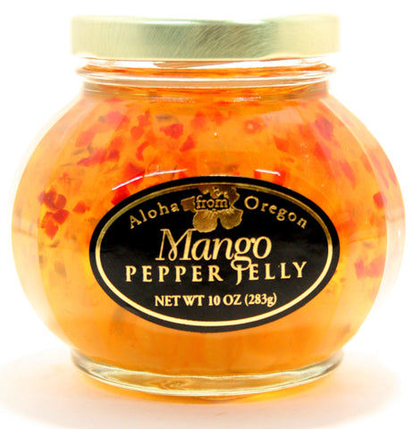Aloha Mango Pepper Jelly. Net Wt. 10 oz.
