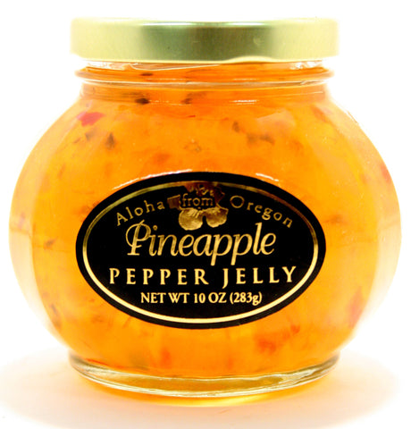 Aloha Pineapple Pepper Jelly. Net Wt. 10 oz.