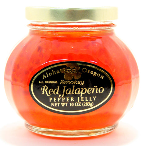 Aloha Smokey Red Jalapeno Jelly. Net Wt. 10 oz.