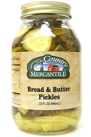 Country Mercantile Bread & Butter Pickles 32 oz