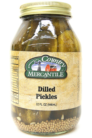 Country Mercantile Dilled Pickles 32 oz