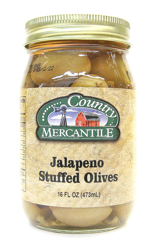 Country Mercantile Jalapeño Stuffed Olives