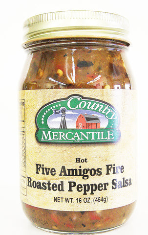 Country Mercantile Five Amigos Fire Roasted Pepper Salsa