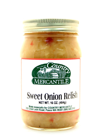 Country Mercantile Sweet Onion Relish - Net Wt. 16 oz.