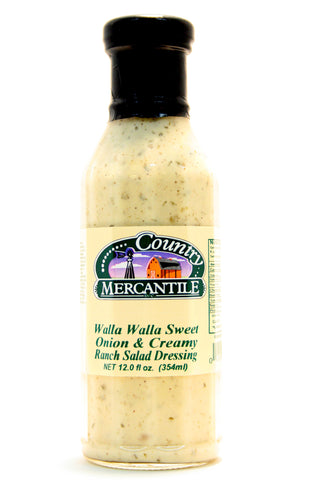 Country Mercantile Walla Walla Sweet Onion & Creamy Ranch Salad Dressing - Net Wt. 12 oz.