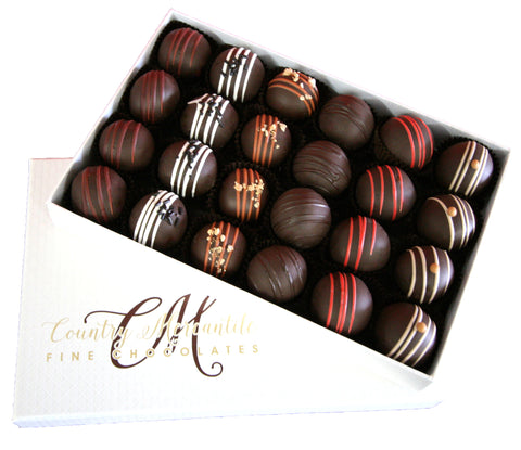 24 pc. Dark Chocolate Truffles Assortment Box