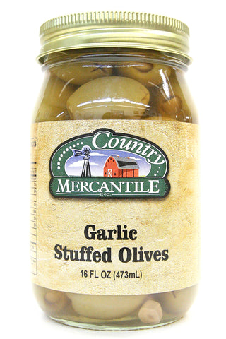 Country Mercantile Garlic Stuffed Olives
