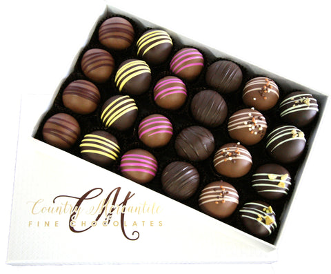 24 pc. Milk & Dark Chocolate Truffles Assortment Box