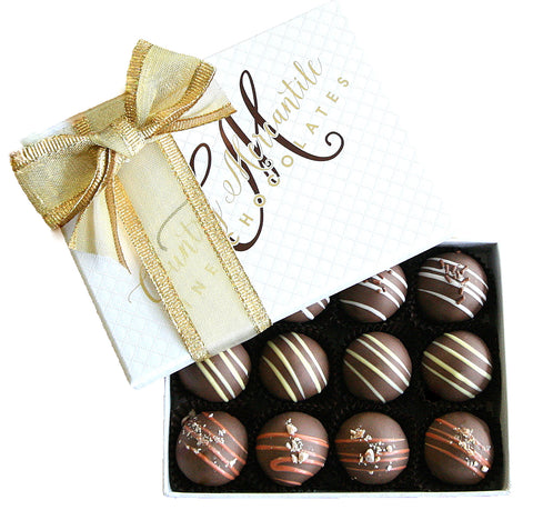 12 pc. Milk Chocolate Truffles Assortment Box
