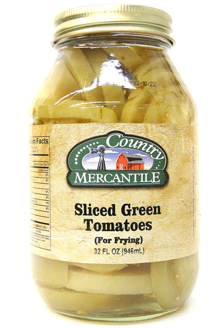 Country Mercantile Sliced Green Tomatoes 32 oz