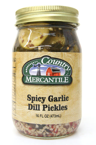 Country Mercantile Spicy Garlic Dill Pickles