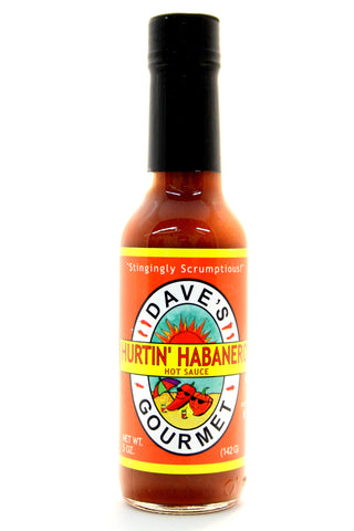 Dave's Hurtin' Habanero Hot Sauce. Net Wt. 5 oz.