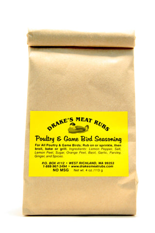 Drake's Meat Rubs Poultry & Game Bird Seasoning - Net Wt. 4 oz.