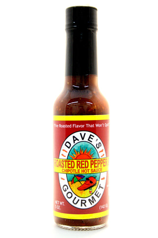 Dave's Roasted Red Pepper & Chipotle Hot Sauce. Net Wt. 5 oz.