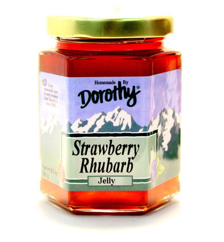 Dorothy's Strawberry Rhubarb Jelly - Net Wt. 8.5 oz.