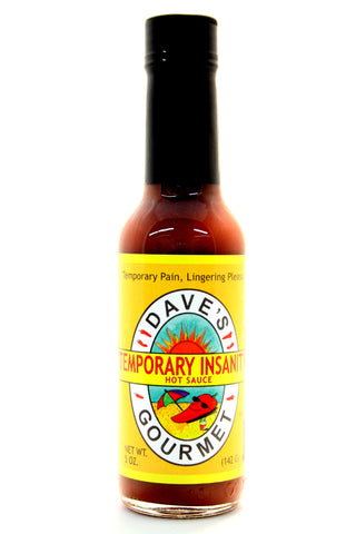 Dave's Temporary Insanity Hot Sauce. Net Wt. 5 oz.