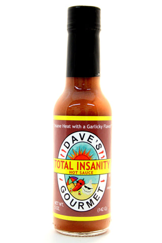 Dave's Total Insanity Hot Sauce. Net Wt. 5 oz.