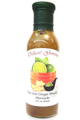 Delicae Gourmet Key Lime Ginger Wasabi Marinade