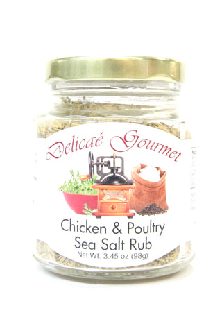 Delicae Gourmet Chicken & Poultry Sea Salt Rub