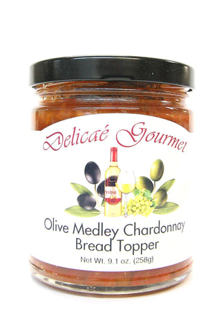 Delicae Gourmet Olive Medley Chardonnay Bread Topper