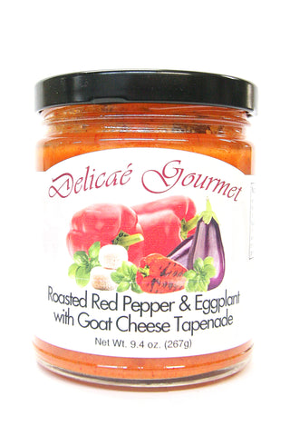 Delicae Gourmet Roasted Red Pepper & Eggplant with Goat Cheese Tapenade