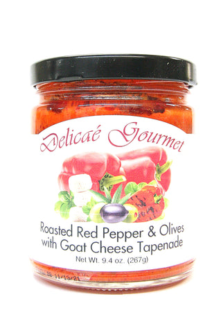 Delicae Gourmet Roasted Red Pepper & Olives with Goat Cheese Tapenade