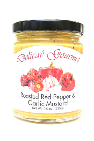 Delicae Gourmet Roasted Red Pepper & Garlic Mustard