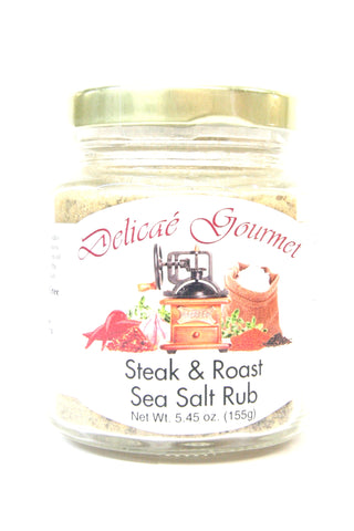 Delicae Gourmet Steak & Roast Sea Salt Rub