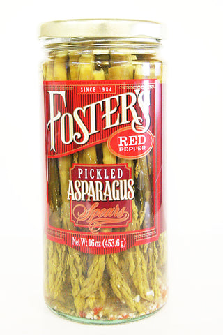 Foster's Red Pepper Pickled Asparagus Spears 16 oz