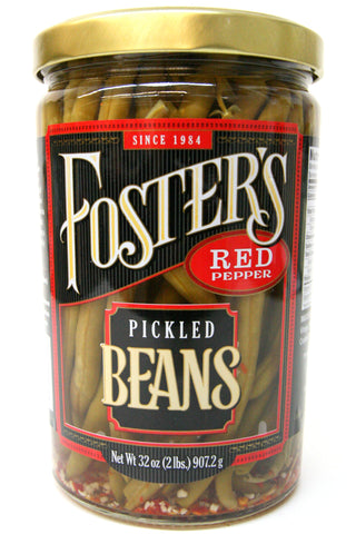 Foster's Red Pepper Pickled Beans 32 oz.