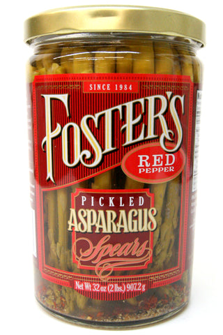 Foster's Crushed Red Pepper Pickled Asparagus Spears 32 oz.