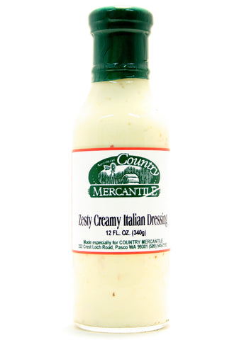Country Mercantile Zesty Creamy Italian Salad Dressing - Net Wt. 12 oz.