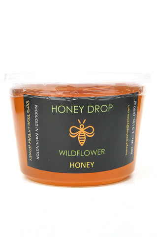 Honey Drop Wildflower Honey 100% Really Raw Honey 1.5 lbs