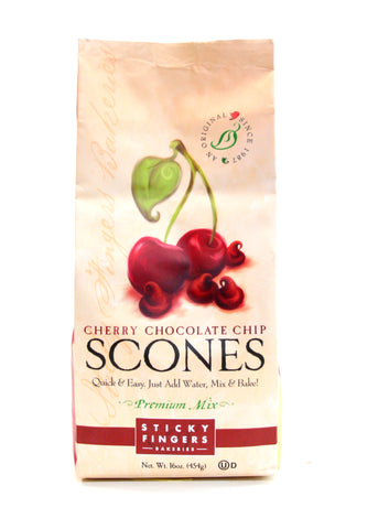 Sticky Fingers Cherry Chocolate Chip Scones Premium Mix