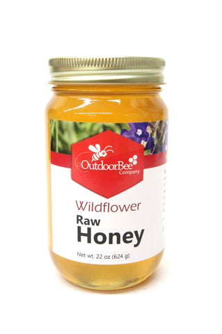 Outdoor Bee Wildflower Raw Honey 22 oz.