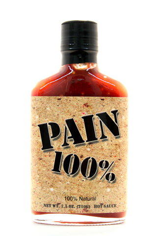 Original Juan Pain 100% Hot Sauce. Net Wt. 7.5 oz.