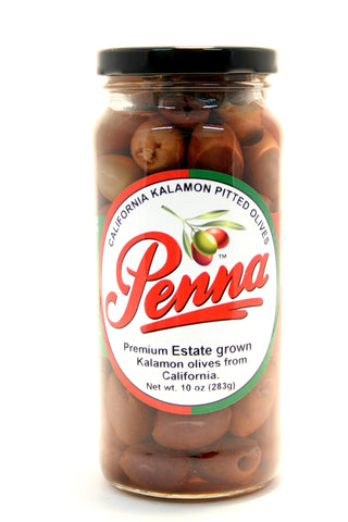 Penna California Kalamon Pitted Olives - Net Wt. 10 oz.