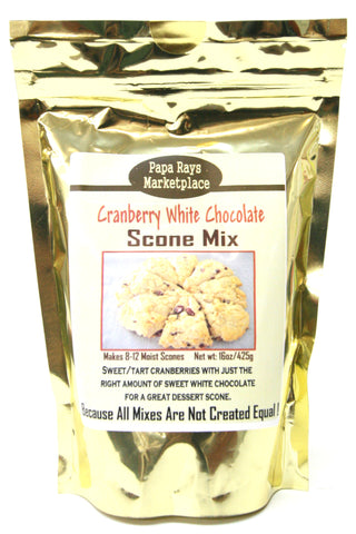 Papa Rays Marketplace Cranberry White Chocolate Scone Mix