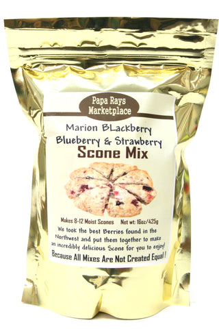 Papa Rays Marketplace Marionberry Blackberry Blueberry & Strawberry Scone Mix