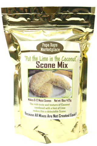"Papa Rays Marketplace ""Put the lime in the coconut"" Scone Mix"