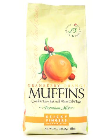 Sticky Fingers Cranberry Orange Premium Muffin Mix - Net Wt. 19 oz.
