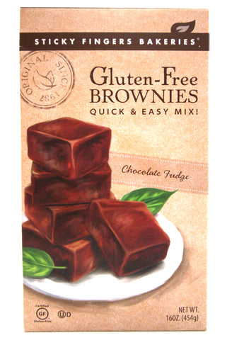 Sticky Fingers Gluten-Free Chocolate Fudge Brownies Mix