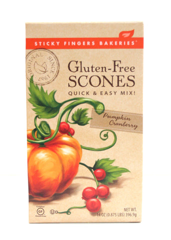 Sticky Fingers Gluten-Free Pumpkin Cranberry Scone Mix