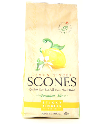 Sticky Fingers Lemon Ginger Premium Scone Mix - Net Wt. 15 oz.