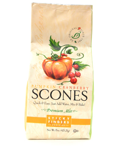 Sticky Fingers Pumpkin Cranberry Premium Scone Mix