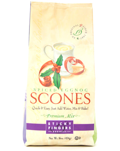 Sticky Fingers Premium Spiced Eggnog Scone Mix - Net Wt. 16 oz.