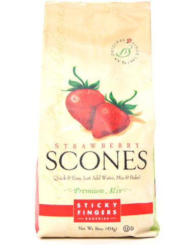 Sticky Fingers Strawberry Premium Scone Mix - Net Wt. 16 oz.