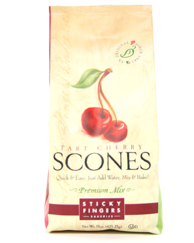 Sticky Fingers Premium Tart Cherry Scone Mix - Net Wt. 18 oz.